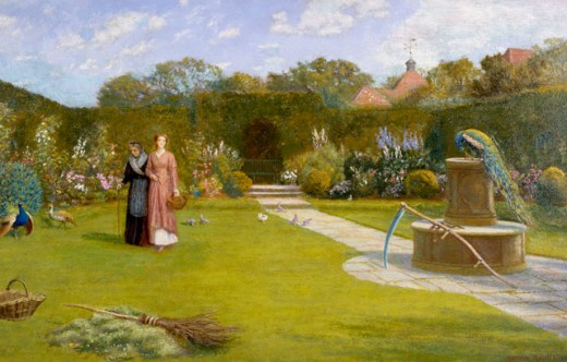 Stock Photo: 1661-228 The Blessing of Youth and Age 1911 Arthur Hughes (1832-1915 British)