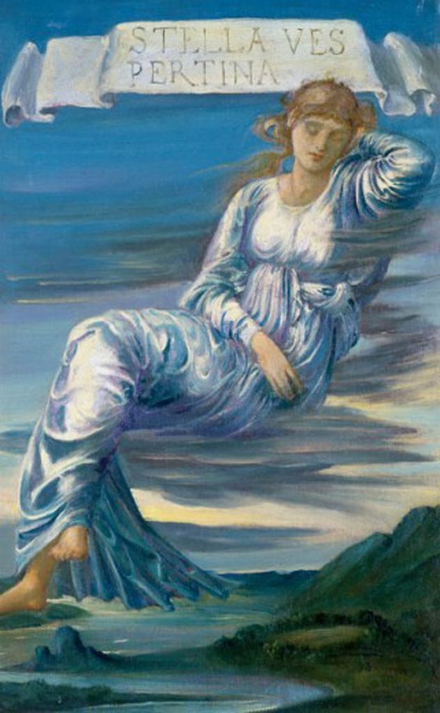 Stella Vespertina Edward Burne-Jones (1833-1898 British) : Stock Photo