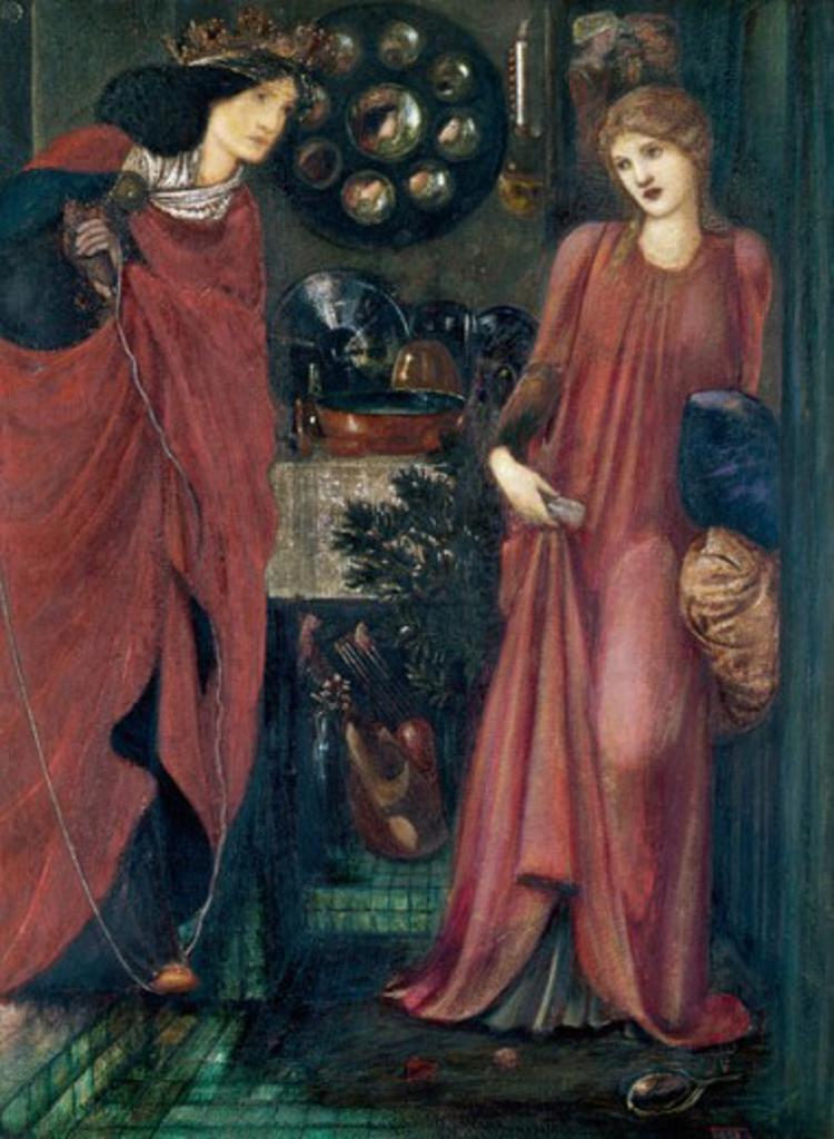 Fair Rosamund and Queen Eleanor 1861 Edward Burne-Jones (1833-1898 British) : Stock Photo