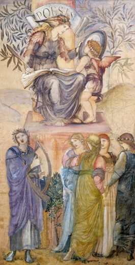 Stock Photo: 1661-270 Poesis Edward Burne-Jones (1833-1898 British) Private Collection