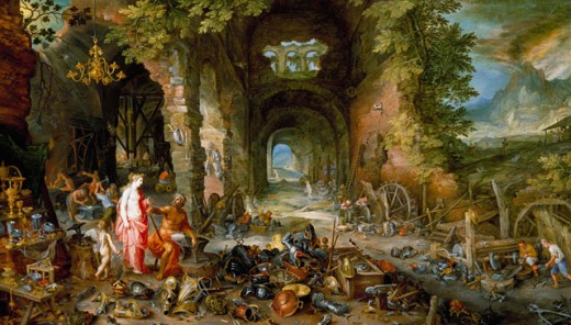 Stock Photo: 1661-271 The Elements: Fire Jan Bruegel the Elder (1568-1625 Flemish)