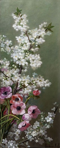 Stock Photo: 1661-365 Apple Blossom Marthe Barbaud-Koch (1862-1928)