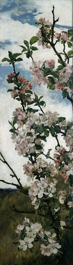 Spring Blossom Alfred William Parsons (1847-1920 British) : Stock Photo