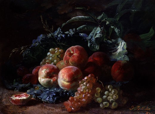 Stock Photo: 1661-642 A Still Life of Fruit Jean Marie Berthelier (b.1834)