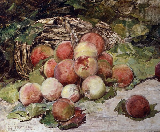 Peaches Georges Jeannin (1841-1925 French) : Stock Photo