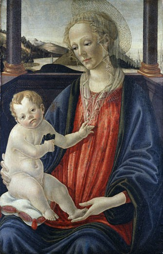 Virgin and Child, Francesco Botticini, (ca.1446-1497/Italian) : Stock Photo