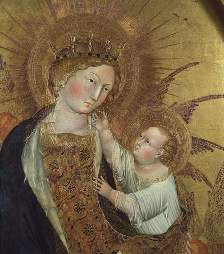 The Branchini Madonna, Giovanni di Paolo, (d.1482/Italian) : Stock Photo
