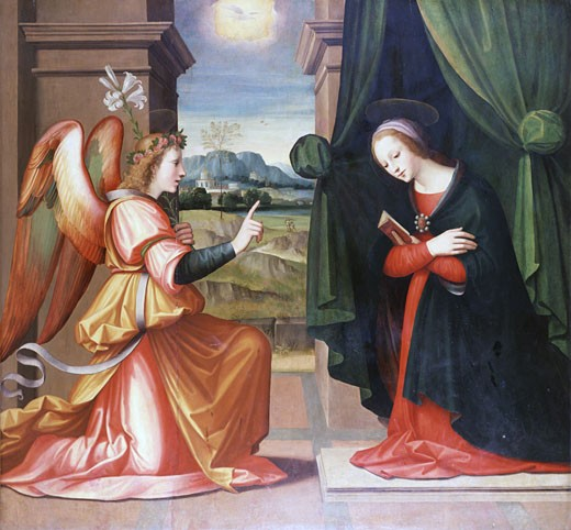 Stock Photo: 1661-762 Annunciation, Michele Tosini, (1503-1577/Italian)