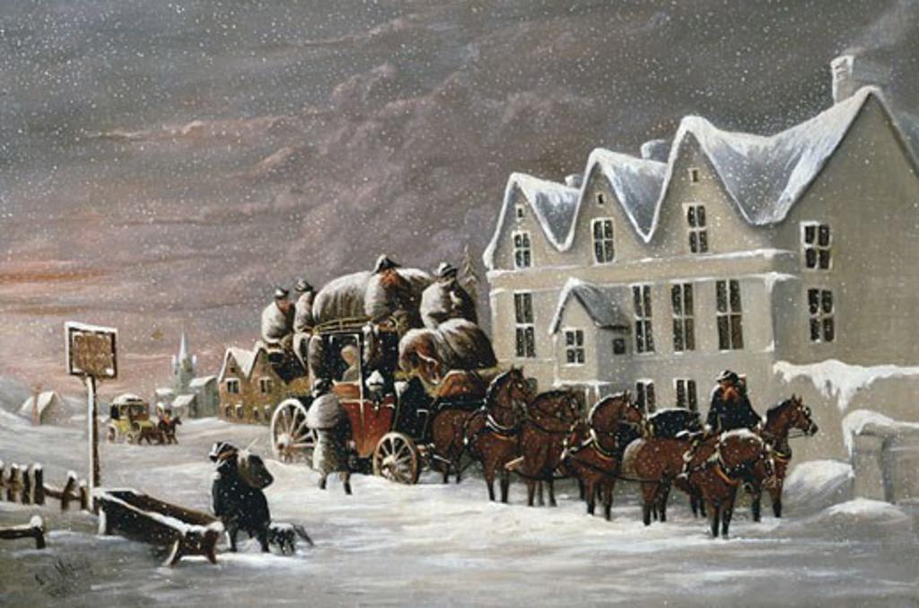 The Manor House Inn, John Charles Maggs, (1819-1895/British) : Stock Photo