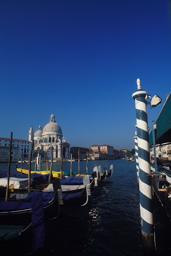 Basilica at the waterfront, Santa Maria Della Salute, Venice, Veneto, Italy : Stock Photo