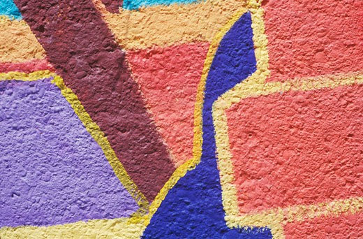 Close-up of a painted wall : Stock Photo