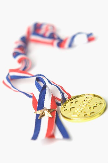 Close-up of a gold medal : Stock Photo