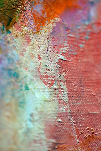 Stock Photo: 1663R-12043 Close-up of dry paint on a fabric