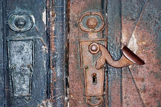 Stock Photo: 1663R-12047 Close-up of a door