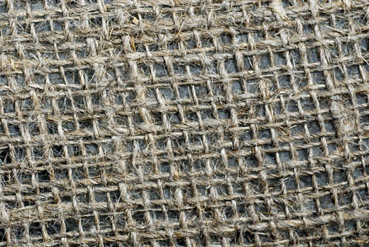 Close-up of a jute sack : Stock Photo