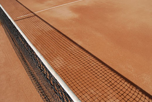 High angle view of a tennis net : Stock Photo