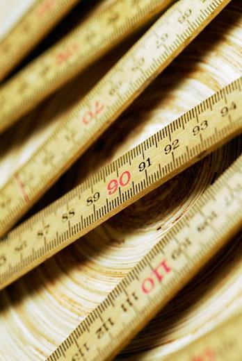Close-up of a folding ruler : Stock Photo