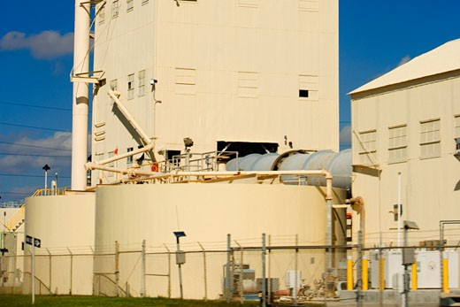 Stock Photo: 1663R-13933 Low angle view of an industry, Miami, Florida, USA