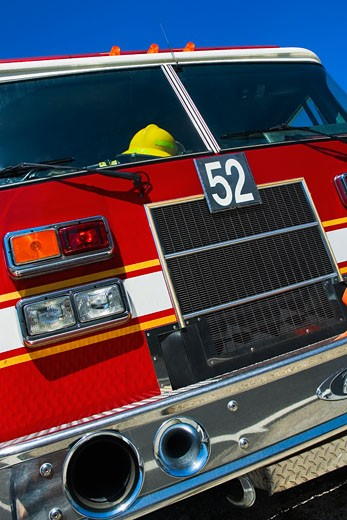 Stock Photo: 1663R-14359 Close-up of a fire engine