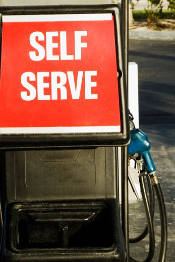 Stock Photo: 1663R-14417 Close-up of a petrol pump