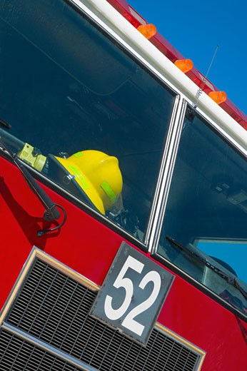 Low angle view of a fire engine : Stock Photo