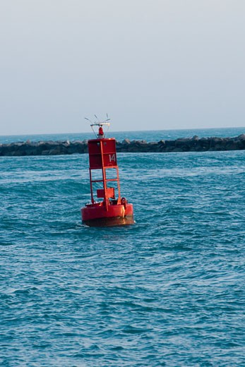 Stock Photo: 1663R-14619 Floating marker in the sea