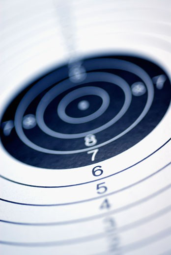 Stock Photo: 1663R-1471 Close-up of a dartboard