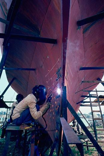 High speed shipbuilding, Bangladesh  : Stock Photo