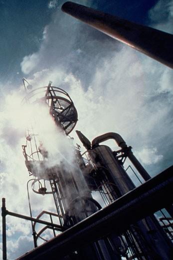 Oil refinery, Brazil : Stock Photo