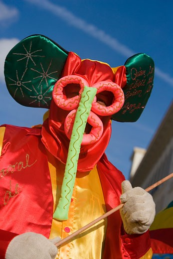 Stock Photo: 1663R-15153 Close-up of a man wearing costume