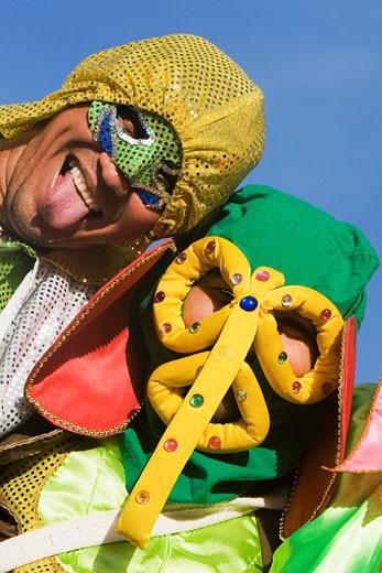 Stock Photo: 1663R-15159 Close-up of two men wearing costumes
