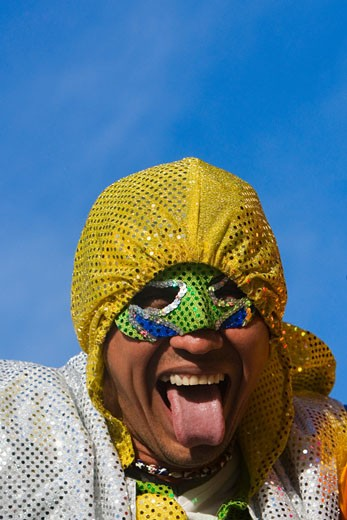 Stock Photo: 1663R-15164 Close-up of a man sticking his tongue out