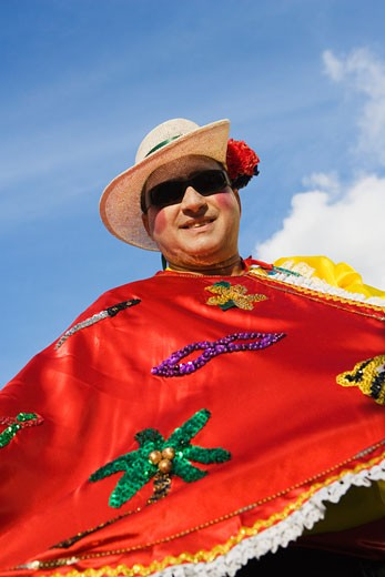 Stock Photo: 1663R-15195 Low angle view of a mature man wearing costume