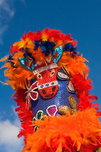 Low angle view of a traditional headdress : Stock Photo