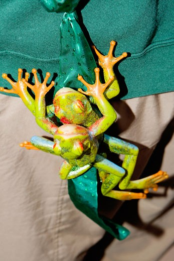 Close-up of two toy frogs : Stock Photo