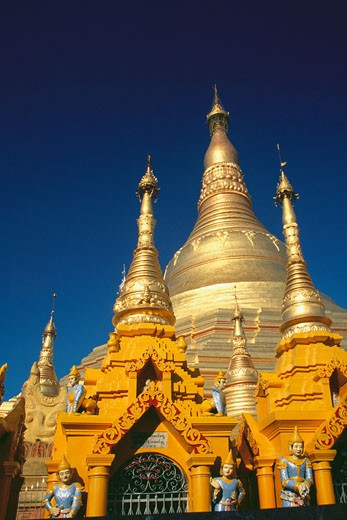 Stock Photo: 1663R-18699 Low angle view of a pagoda, Shwedagon Pagoda, Bagan, Myanmar