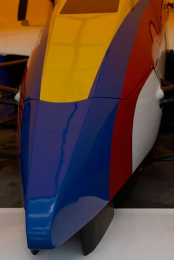 Stock Photo: 1663R-21551 Close-up of a racecar