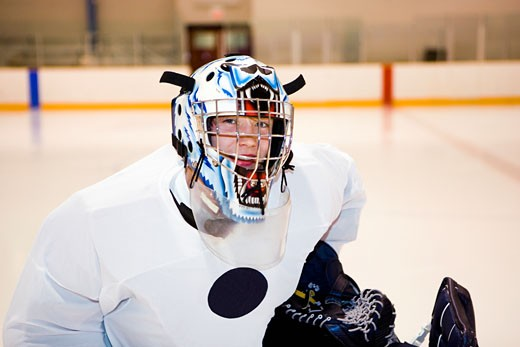 Stock Photo: 1663R-21692 Close-up of an ice hockey player