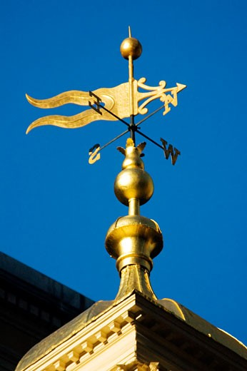 Stock Photo: 1663R-22143 Low angle view of a weather vane, Boston, Massachusetts, USA