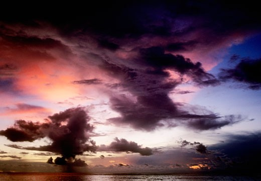 Cloudscape over the sea, Sipadan, Borneo, Malaysia : Stock Photo
