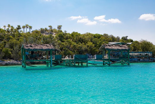 Structure in the sea, Exuma, Bahamas : Stock Photo