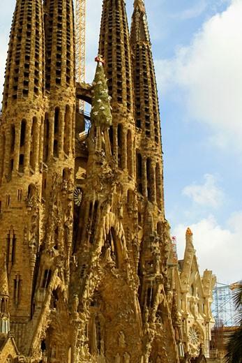 Facade of a church, Sagrada Familia, Barcelona, Spain : Stock Photo
