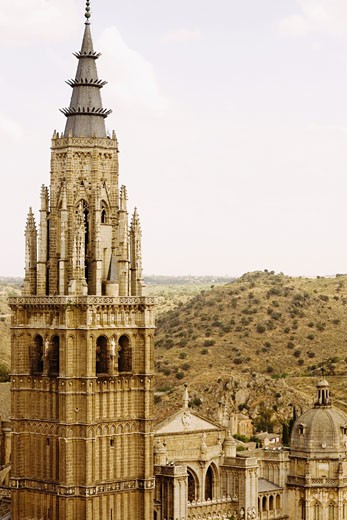 Stock Photo: 1663R-28514 Cathedral in a city, Cathedral Of Toledo, Toledo, Spain
