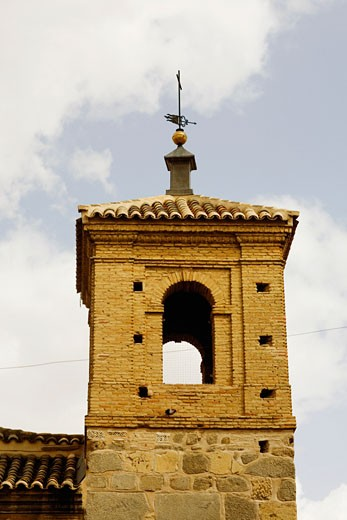 Low angle view of a weather vane on a church, Toledo, Spain : Stock Photo
