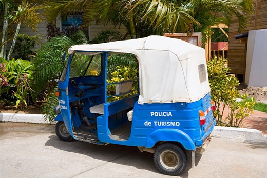 Jinrikisha parked at the roadside, Honduras : Stock Photo