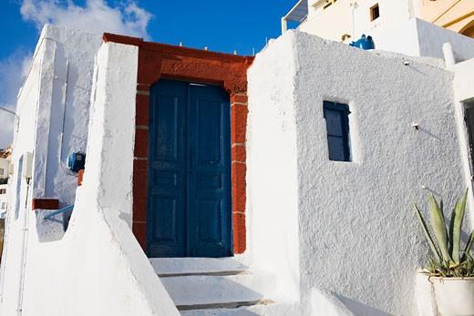 Entrance gate of a building, Greece : Stock Photo