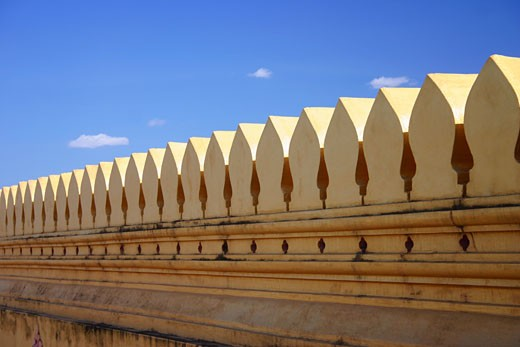 High section view of a building, That Luang, Vientiane, Laos : Stock Photo