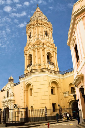 Stock Photo: 1663R-31190 Low angle view of a church, Santo Domingo Church and Convent, Lima, Peru