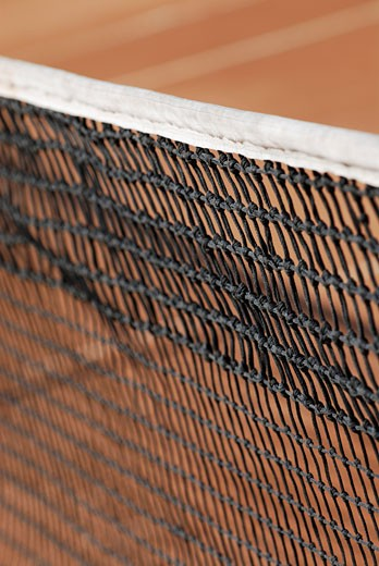 Close-up of a tennis net : Stock Photo
