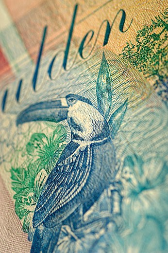 Close-up of a banknote : Stock Photo